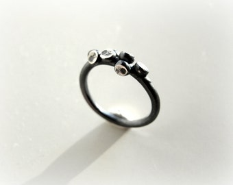 Silver ring, sterling silver octopus ring, elegant, modern, cij