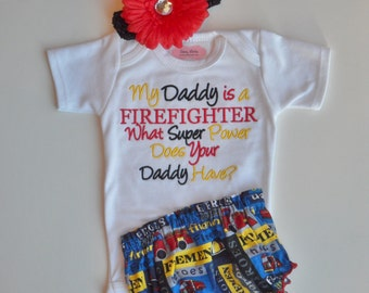 Popular items for firefighter baby on Etsy