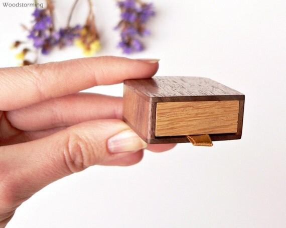 Slim ring box engagement ring box wood ring box proposal for Slim engagement ring box