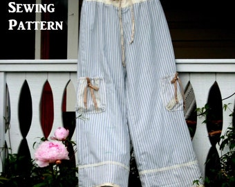 PDF Sewing Pattern Womens Lounge Pants Easy Fit Printable Instant Download Pattern Tutorial