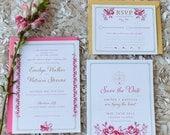As seen on Elizabeth Anne Designd - Sunkissed Blossom Wedding Invitation Suite Design ------- Deposit to get started