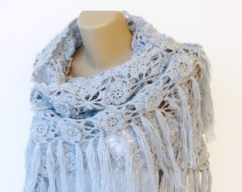 Crochet Shawl / Bridal Shawl / Wedding Shawl / Bridal Shrug / Winter Wedding / Bridal Bolero / Bridal Cover Up / Winter Accessories