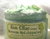 Moroccan Mint Whipped Soap - Creamy Whipped Soap - Soap in a Jar - Vegan