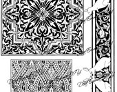 Victorian, instant download, printable graphic clipart