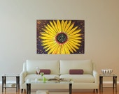 Art. Abstract Painting. Original. Abstract Art. Large. 48x36.  Modern Art. Contemporary. Acrylic Art. FREE SHIPPING. Sun Flower.