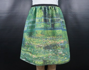 Claude Monet Water Lily Pond skirt - made to order