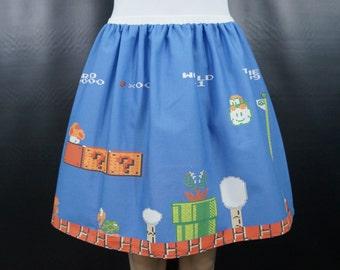 Video Gaming (Mario) full skirt - made to order