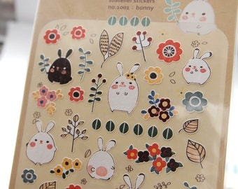 Lovely Rabbit Sticker (1 sheet)