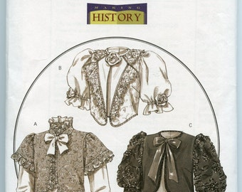 Butterick 4952 Sewing Pattern Historical Victorian Jacket Costume Pattern, Size 6 - 12 UNCUT