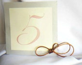 Rustic Table Wedding Decorations, Knot Table Number Holders,  2pcs