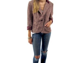 70s Speckled Tweed Jacket, Mens Wear, Tweed Blazer, Fitted Blazer, 70s Blazer, Vintage 70s Jacket Δ size: xs / sm