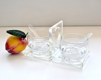 Vintage Lucite Condiment Serving Set