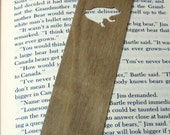 Bookmark, Wooden with Frog