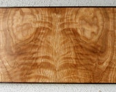 Bookmatched Curly White Oak & Purpleheart Wood Wall Art Artist Signed No. 163