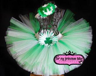 St. Patty's Day tutu with headband - newborn tutu, toddler tutu, infant tutu, baby tutu, dress up tutu, St. Patricks Day tutu, dance tutu