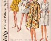 Simplicity 5965, Vintage, Misses', Women's Robe, Sewing Pattern, 1960s
