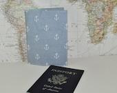 Anchor Passport Cover - Nautical Theme Passport Case - Travel Gift - Midori Passport Notebook Cover