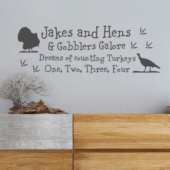 Turkey hunting wall decal nursery wall decal by for Hunting wall decals