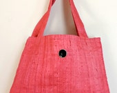 Pink Tote Bag, fabric tot...
