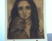 SALE Selkie 9x12 Print