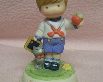 Joan Walsh Anglund Figurine School Days 1986 Avon Collectible