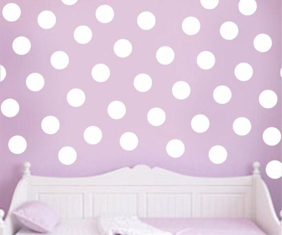 Vinyl Wall Decal Polka Dots Set Baby Boy Baby Girl Nursery Decal Children Kids Circles Teen Bedroom Decals