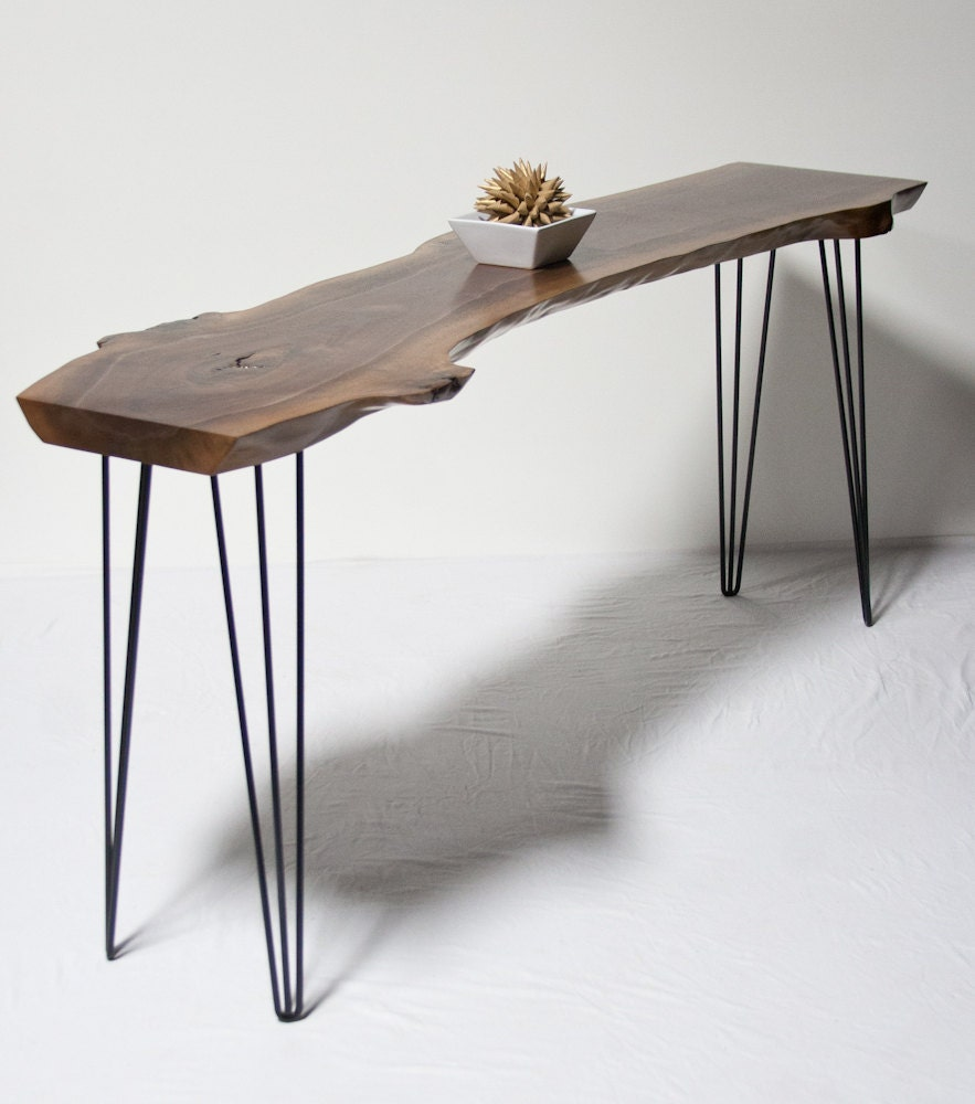 YOUR CUSTOM Black Walnut Console Or Entryway Table By