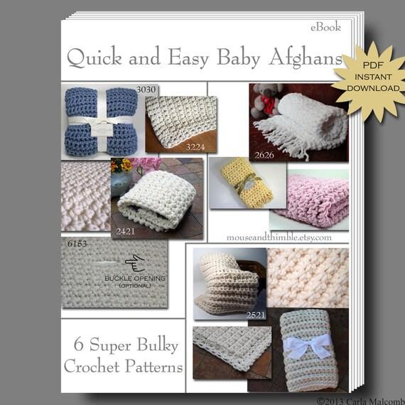 Easy & Fast - Super Bulky Baby Blanket - Crochet PATTERNS ...