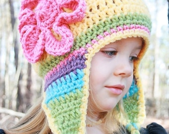 Elizabeth Crochet Hat Pattern For Child : Childrens crochet hat patterns Etsy