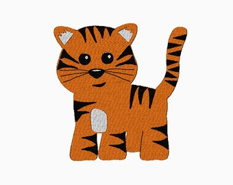 tiger puppet template - tiger hand and finger puppet in the hoop machine