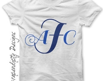 Iron on Monogram Shirt PDF - Initials Iron on Transfer / Monogram Kids Clothing / Baby Shower Gift / Baby Cute Outfit / Toddler Initials -R