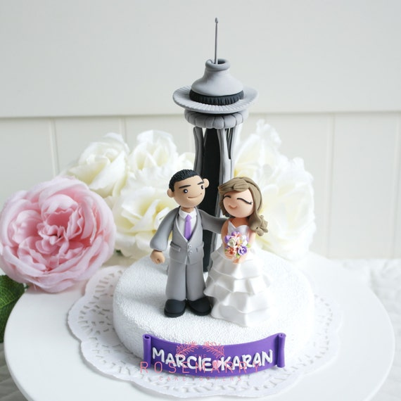 wedding cake seattle custom wedding cake topper at space needle in seattle 24246