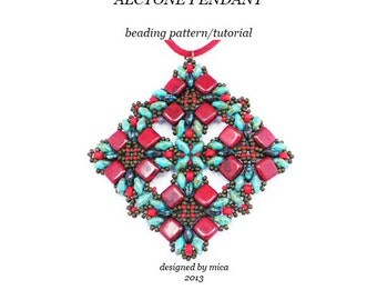 Alcyone Pendant - Beading Pattern/Tutorial - PDF file personal use only