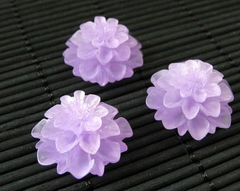 Purple Mum Flower Refrigerator Magnets. Set of Three. Lavender Flower Magnets. Purple Fridge Magnets. Office Magnets. Handmade Home Decor.