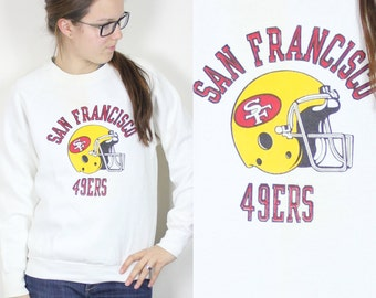 Vintage Retro White NFL San Fransisco 49ers Sweatshirt