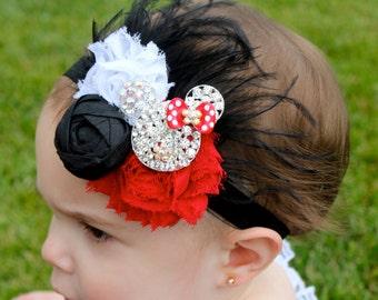 Minnie Mouse Baby - Minnie Mouse Headband - Minnie Mouse Birthday