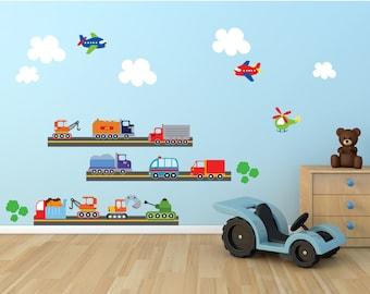 Cars FABRIC Wall Decal,  REUSABLE Eco-Friendly Non-Toxic Decals, 801