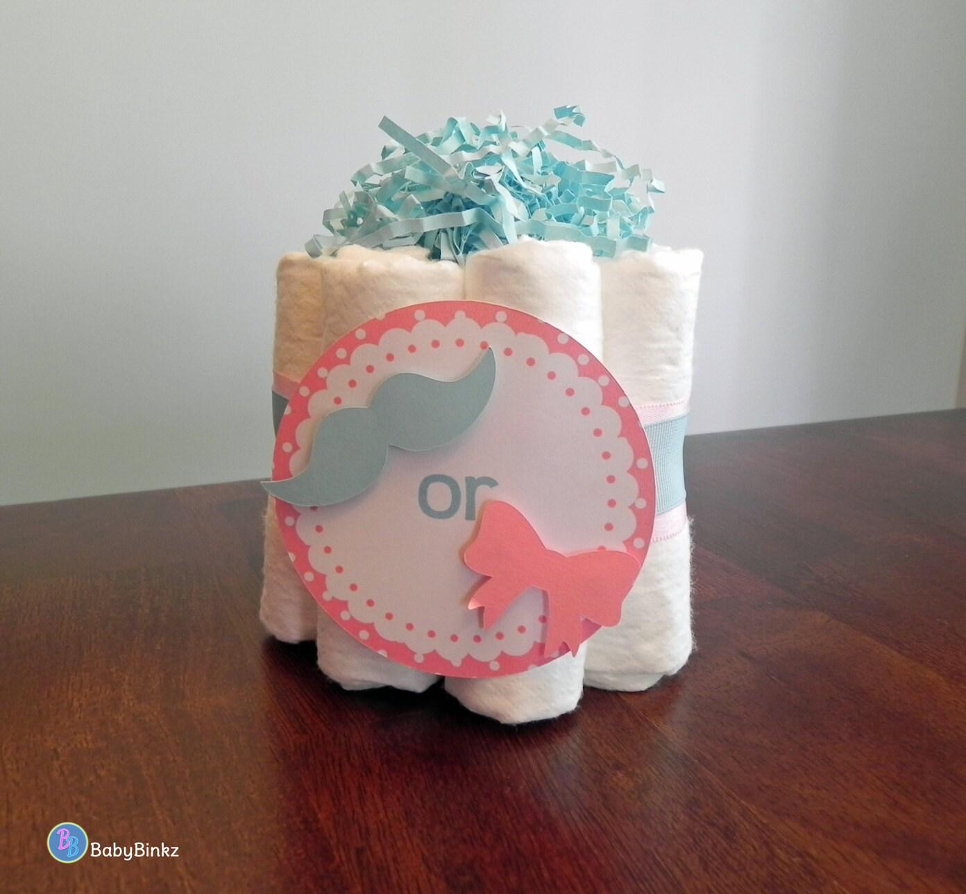 gender reveal mini diaper cake baby shower gender reveal