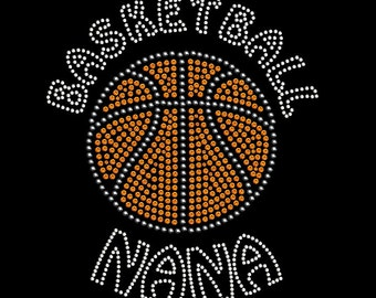Basketball Nana Rhinestone Transfer Iron On DIY Bling 34145