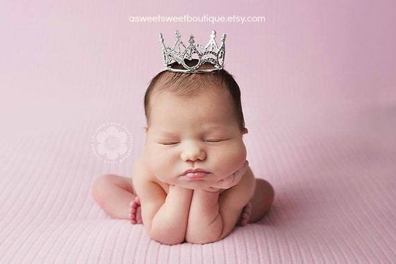 Crown Little Princess Newborn Crown From The Sweet Baby Royalty Newborn Crown Collection Stunning Unique Newborn Photo Prop