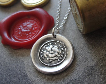 Wax Seal Necklace It Watches Over You - antique wax seal charm jewelry with Eye of Providence all seeing by RQP Studio