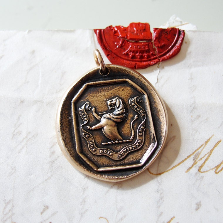 crest wax seal pendant do what you must come what may