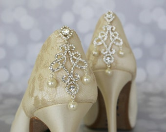 Wedding Shoes, Ivory Wedding Shoes, Lace Wedding Shoes, Custom Wedding Shoes, Ivory Bridal Heels, Ivory Lace Wedding Shoes, High Heel
