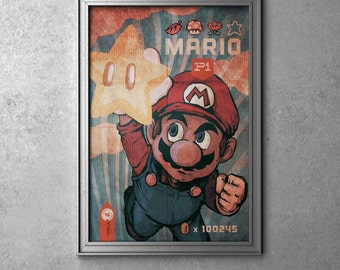 Super Mario - Nintendo's Super Mario Bros. Original Art Poster