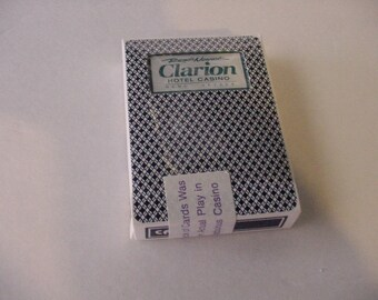 """Obsolete Deck of Cards """"Clarion Hotel Casino Reno's Newest""""  Souvenir Gaming Collectible"""