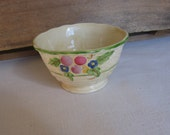 "Crown Devon, Small Porcelain Bowl, Made in England, 3"" x 1 7/8"", Small Round Bowl, Basket Weave Bowl, Display Bowl, Vintage MyVintageTable"