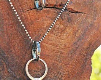 Ring Keeper sterling silver necklace
