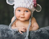 Crochet Lamb Hat. Spring Hat. Crochet Easter Hat. Free shipping in the US