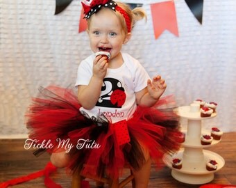 Ladybug Birthday Tutu Outfit-Ladybug Birthday Party-Ladybug Tutu Set *Bow NOT Included*