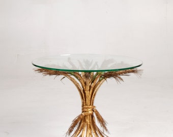 """French Gilt """"Sheaf of Wheat"""" Table"""